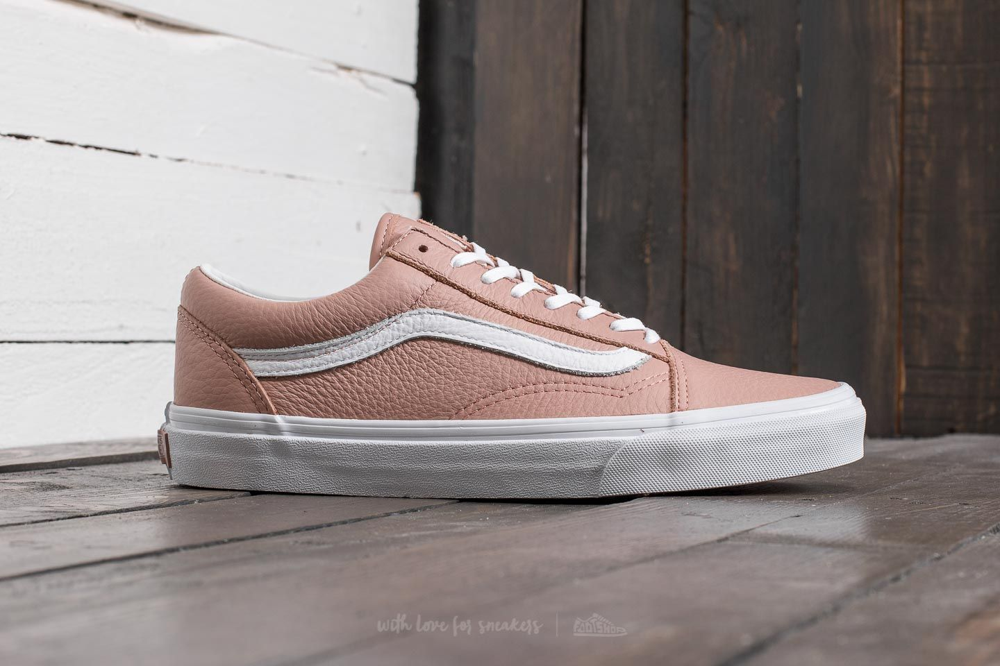 vans old skool leder rosa
